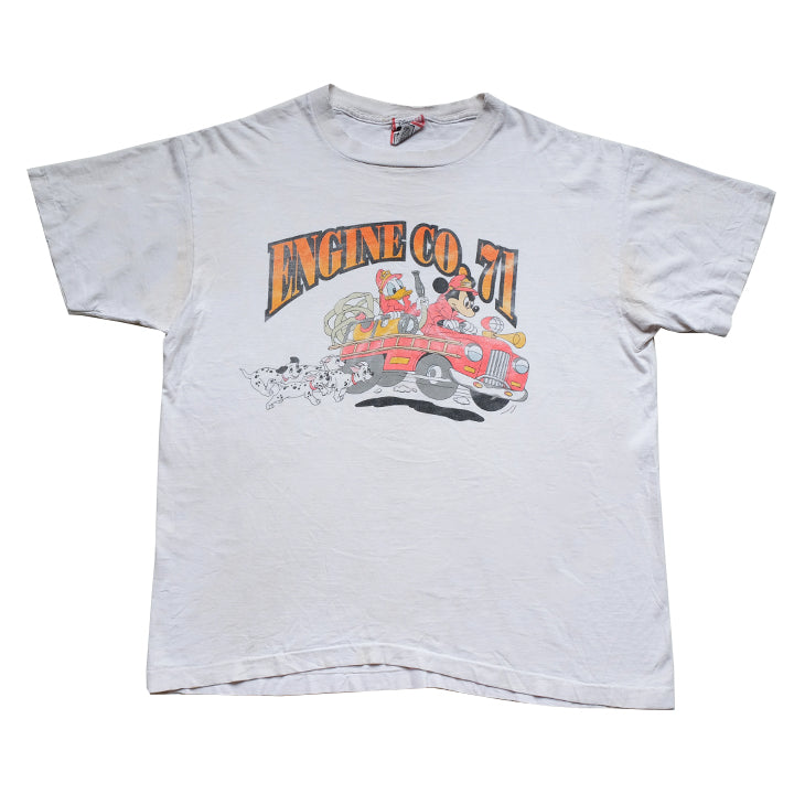 Vintage Mickey Mouse Engine Co 71 T-Shirt - L