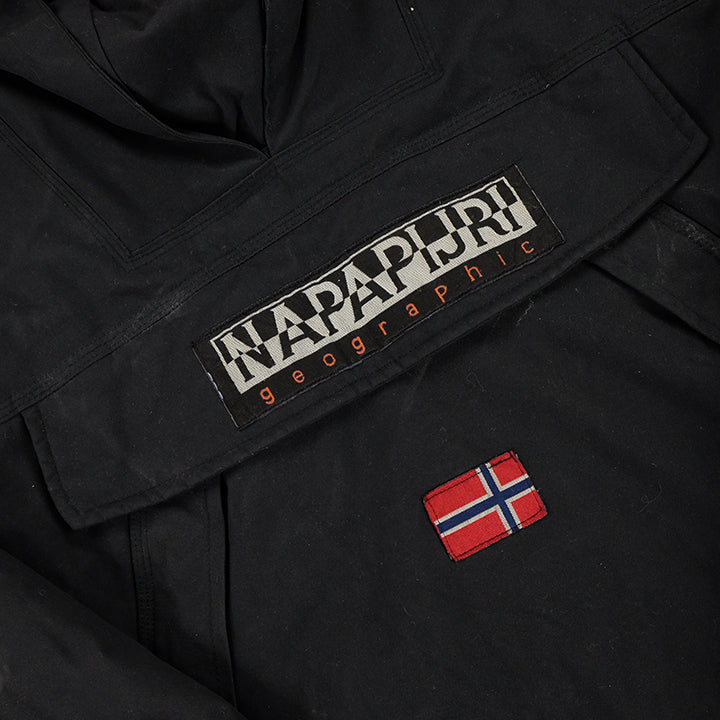 Vintage Napapijri Geographic Heavy Weight Skidoo Fleece/Quilted Jacket - L