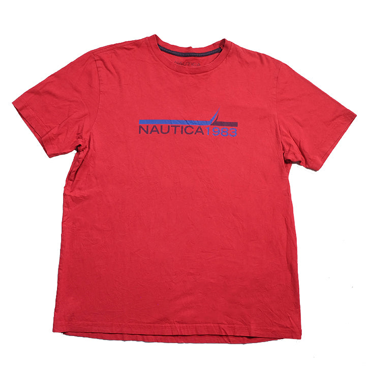 Vintage Nautica Spell Out T-Shirt - S