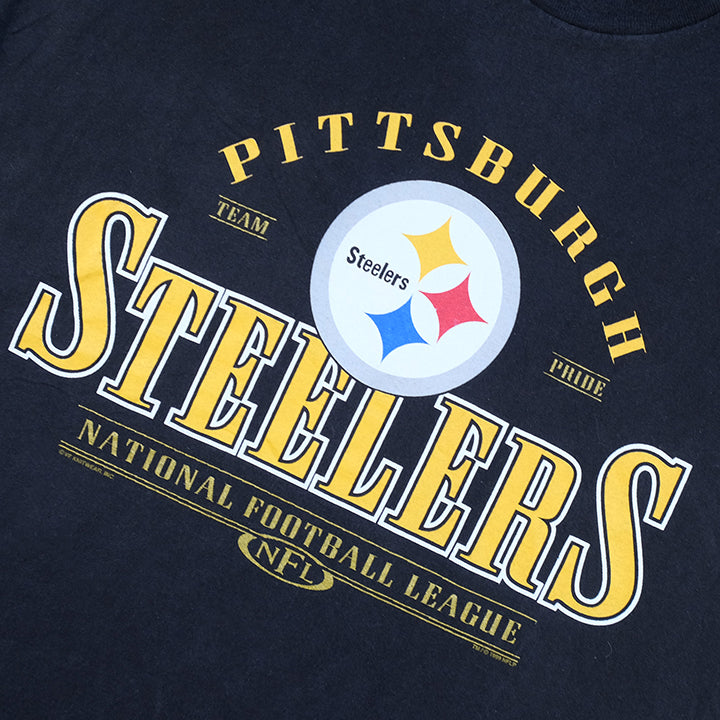 Vintage Pittsburgh Steelers Spell Out T-Shirt - XL