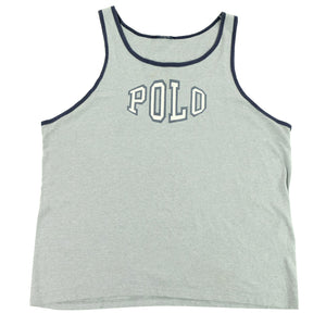 Vintage Polo Ralph Lauren MADE IN USA Spell Out Tank Top - L