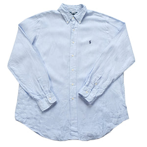 Polo Ralph Lauren LINEN Long Sleeve Button Up - L