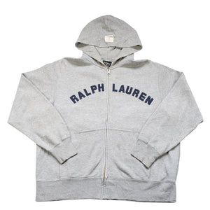 Vintage Polo Ralph Lauren Spell Out Zip Up Hoodie - L