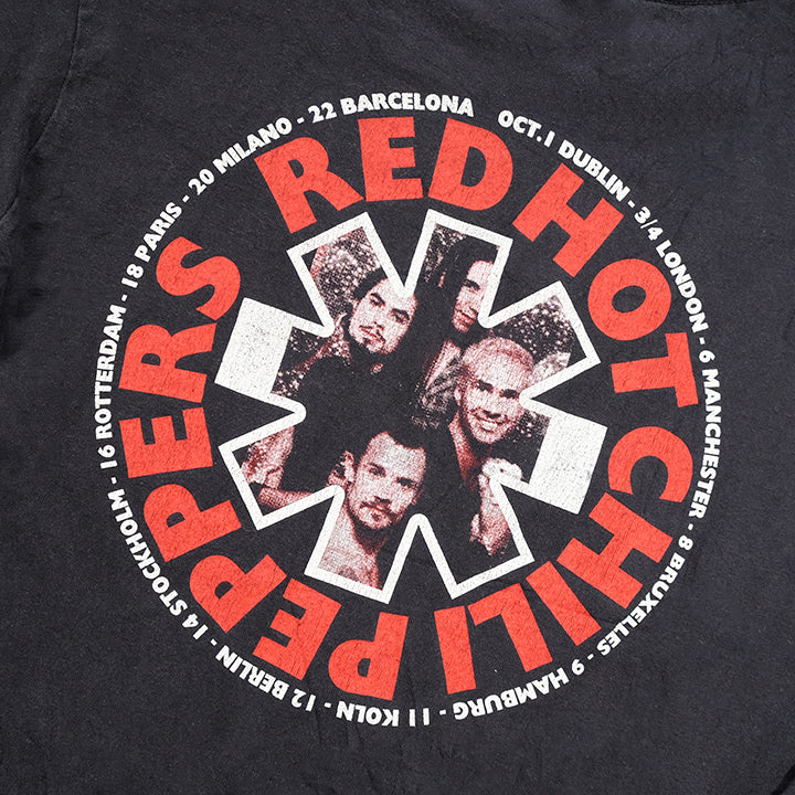 Vintage RARE 1995 Red Hot Chilli Peppers One Hot Minute Euro Tour T-Shirt - L