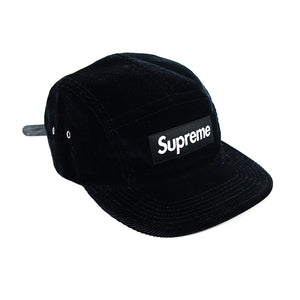 Supreme Corduroy 5 Panel Leather Strap Cap