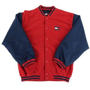 90s Tommy Hilfiger Fleece Bomber Jacket - L