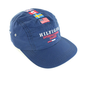 1996 Tommy Hilfiger 'RARE' MADE IN USA International Games 5 Panel Cap