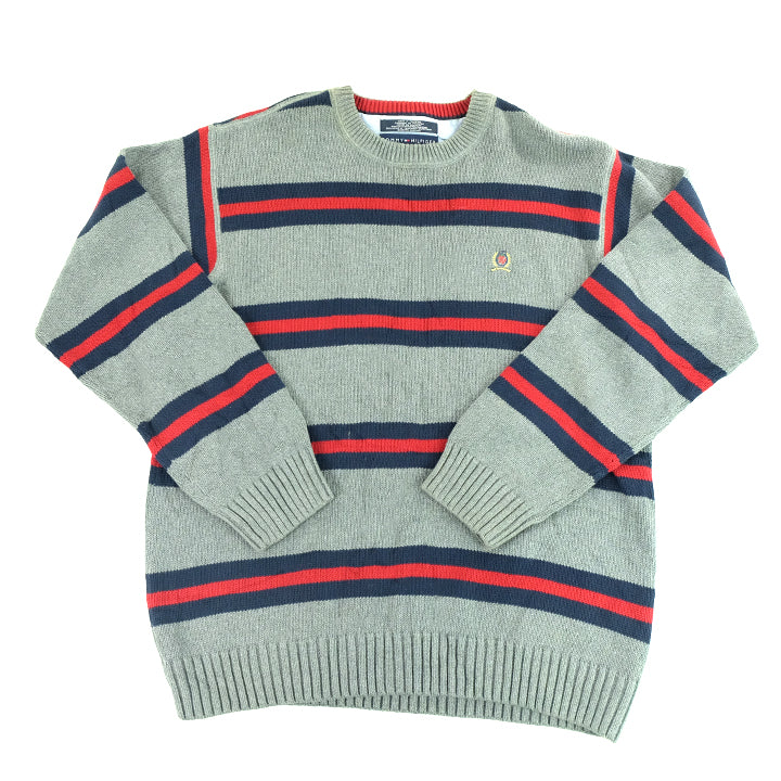 Tommy Hilfiger Lion Crest Stripe Sweater - L