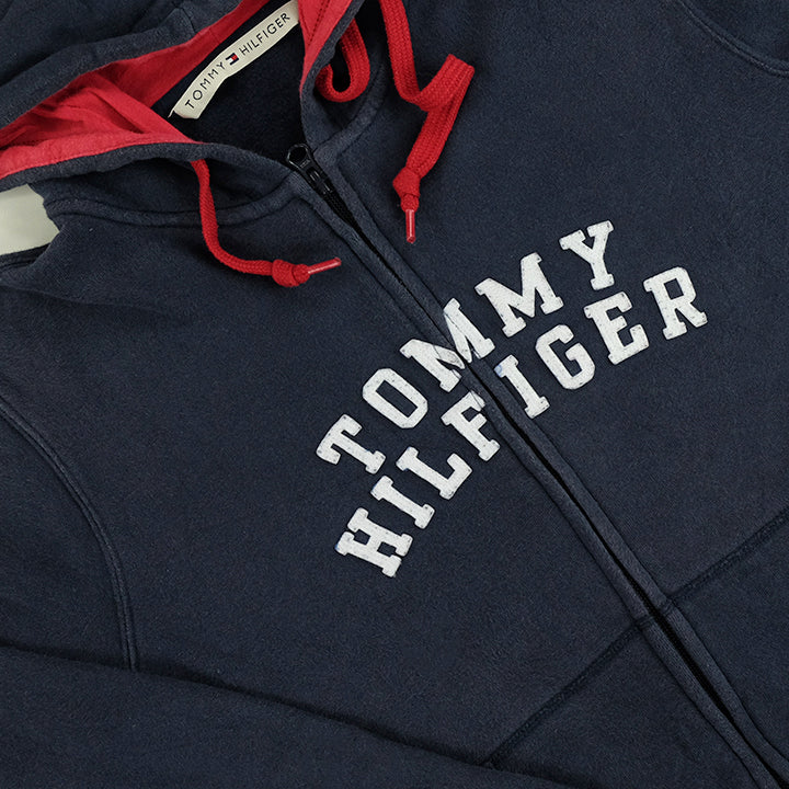 Tommy Hilfiger WOMENS Spell Out Zip Up Hoodie - L