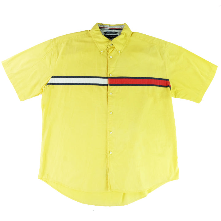 Tommy Hilfiger Flag Short Sleeve Button Up - XL