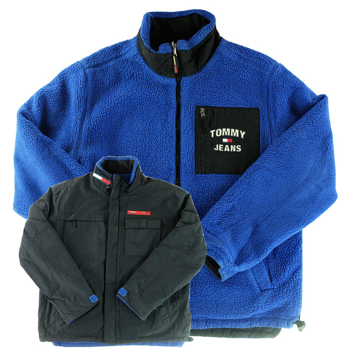 classic style super cheap to buy 90s Tommy Hilfiger 'RARE' Sherpa Style Reversible Jacket - L ...