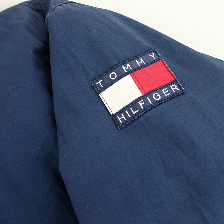 90s Tommy Hilfiger Sleeve Patch Down Jacket - XL