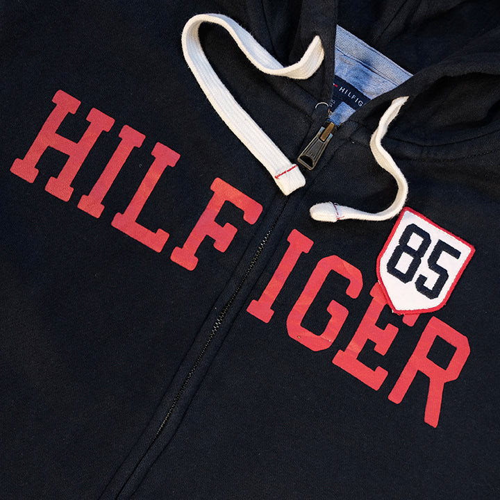 Tommy Hilfiger Spell Out Zip Up Hoodie - XL