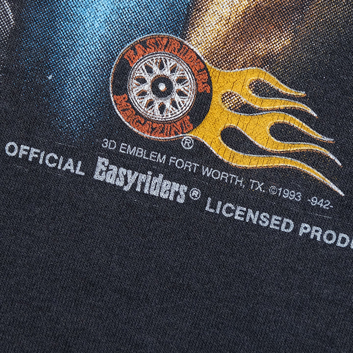 Vintage RARE 3D Emblem Easy Rider Bad To The Bone T-Shirt - XL