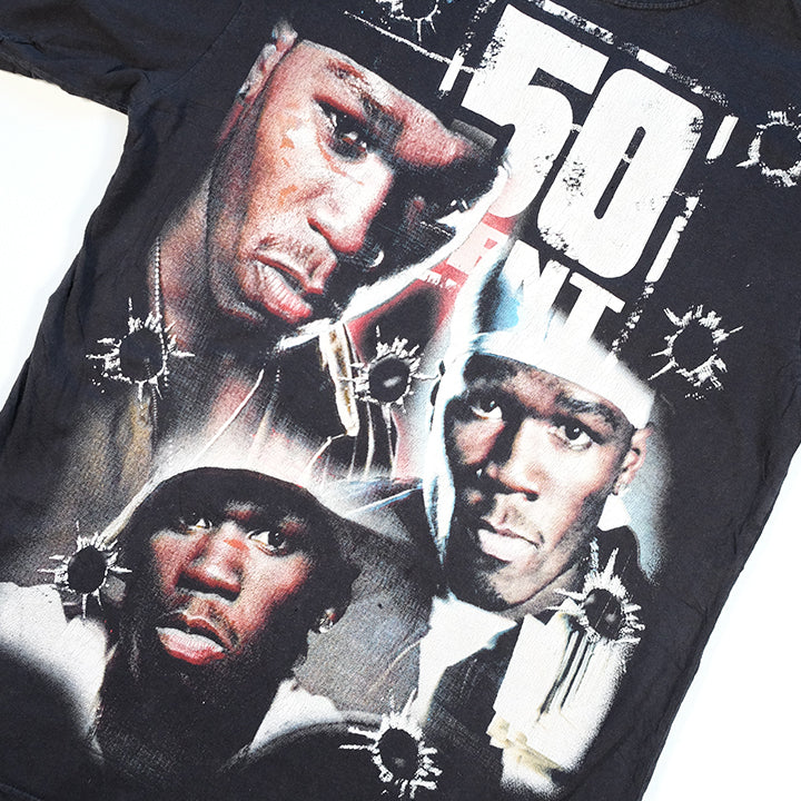 Vintage 50 Cent Front & Back All Over Print T-Shirt - M/L