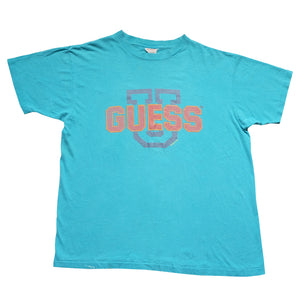 Vintage RARE 1989 Guess Big Spell Out Made In USA T-Shirt - L