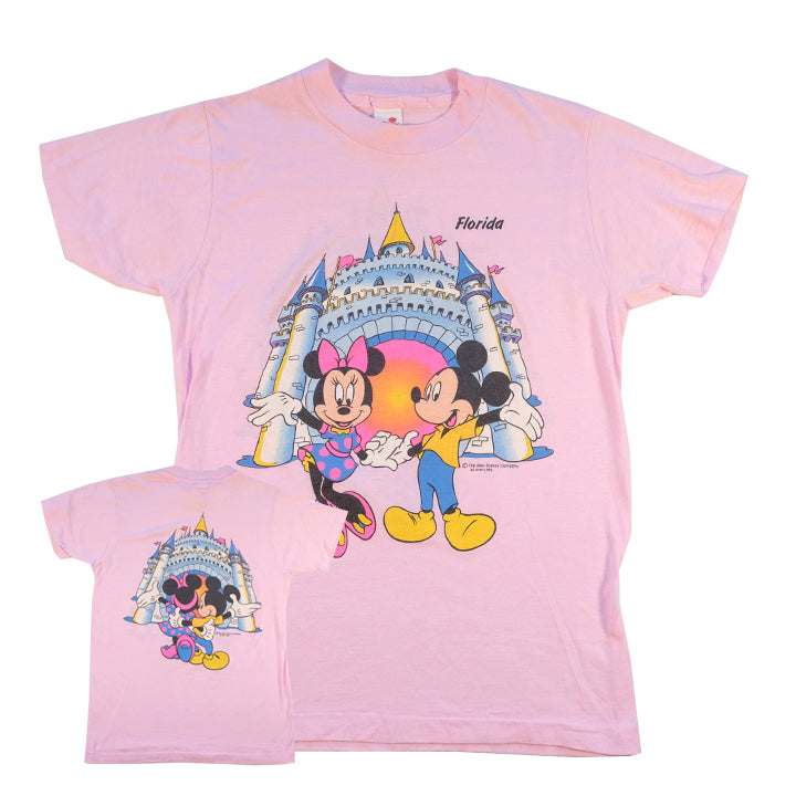Vintage 80s Mickey Mouse Front & Back Graphic T-Shirt - S