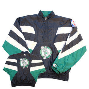 Vintage Starter Boston Celtics Big Logo Pullover Jacket - XL