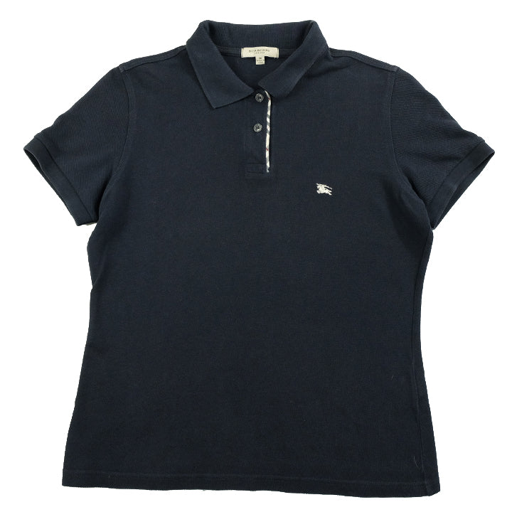 Vintage Burberry WOMENS Embroidered Logo Polo Shirt - M