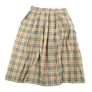 Vintage RARE Burberrys WOMENS Classic Check Skirt Made In England - 10