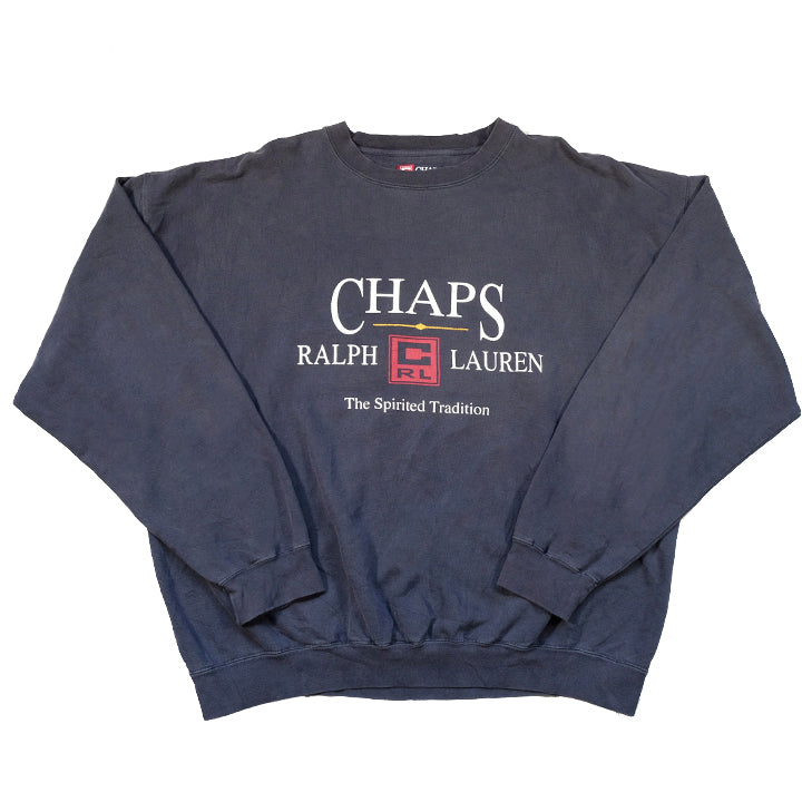 Vintage Chaps Ralph Lauren Big Spell Out Crewneck - L