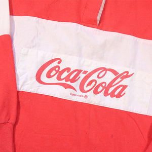 Vintage RARE Coca-Cola Spell Out Rugby - M