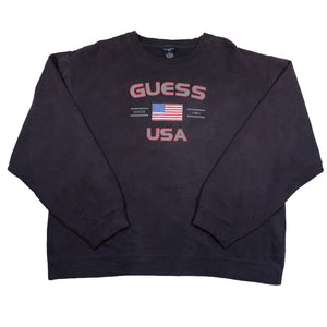 Vintage RARE Guess USA Big Spell Out Crewneck - XL