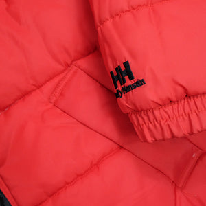 Vintage RARE Helly Hansen Reversible BIG Spell Out Puffer Down Jacket - XL