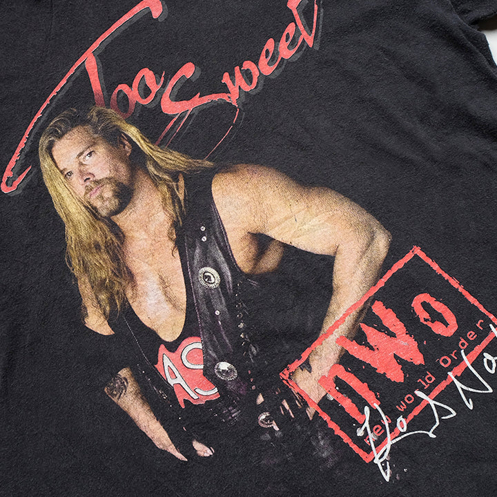Vintage RARE Kevin Nash Too Sweet NWO Big Graphic T-Shirt - XL