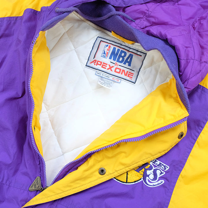 Vintage Los Angeles Lakers Embroidered Spell Out Quilted Jacket Xl Steep Store