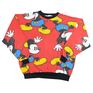 Vintage Mickey Mouse All Over Print Crewneck - M/L