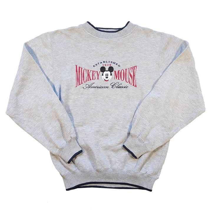 Vintage Mickey Mouse Embroidered Crewneck - M