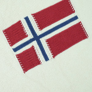 Vintage Napapijri Geographic Big Flag Sweater - XL