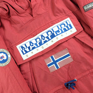 Vintage RARE Napapijri Geographic Trans-Antarctica Expedition Spell Out Jacket - M