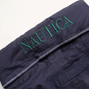 Vintage RARE Nautica Big Graphic Reversible Jacket - L