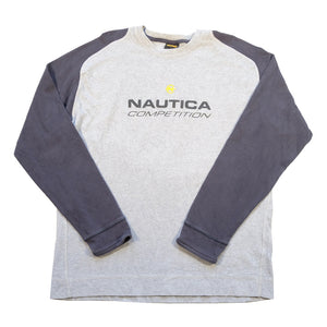 Vintage Nautica Competition Spell Out Crewneck - XL