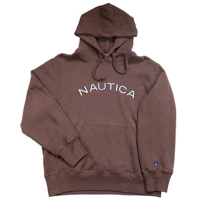 Vintage Nautica Embroidered Spell Out Hoodie - M