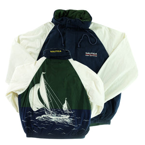 a29a042e6fc91 90s 'RARE' Nautica Ocean Sportsman Big Sailboat Jacket - XL