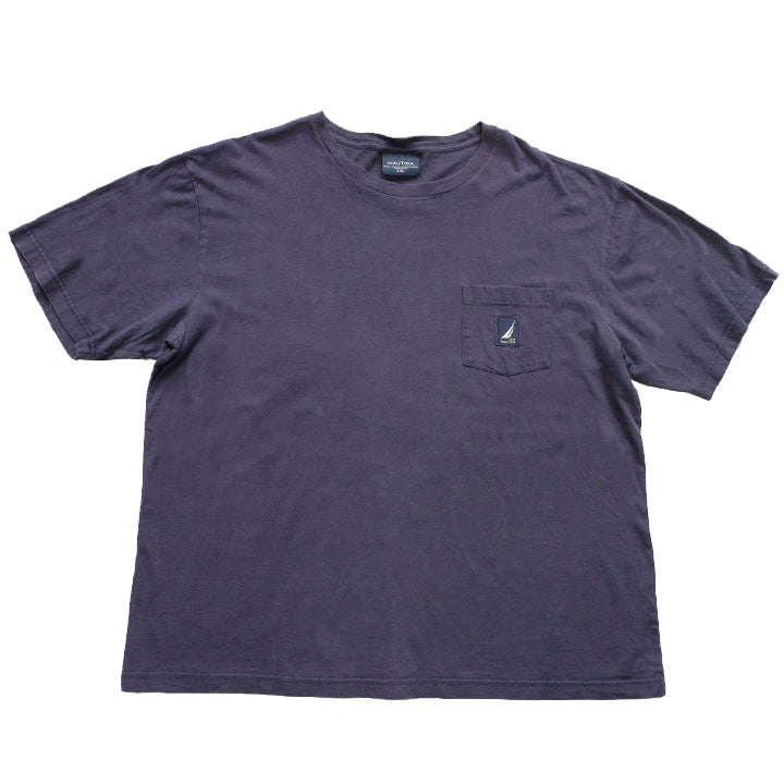 Vintage Nautica Pocket Patch Logo T-Shirt - XL