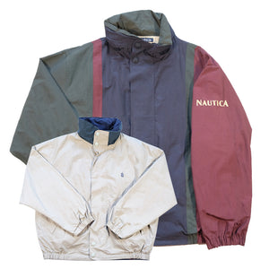 Vintage Nautica Spell Out Reversible Jacket - L