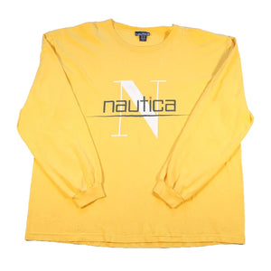 Vintage Nautica Classic Spell Out Long Sleeve - XXL