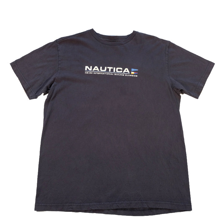 Vintage Nautica Spell Out T-Shirt - M