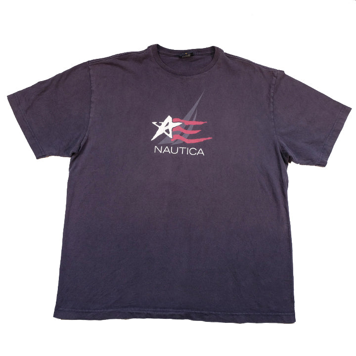 Vintage Nautica Spell Out T-Shirt - XL