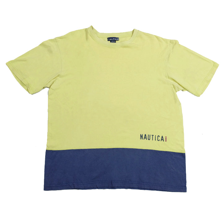 Vintage Nautica Spell Out T-Shirt - L