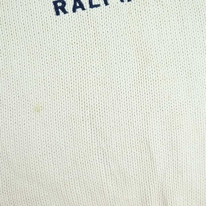 Vintage RARE Polo Ralph Lauren Jeans Big RL Flag Knitted Sweater - L