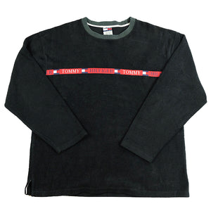 Vintage RARE Tommy Hilifger Spell Out Fleece Crewneck - XL