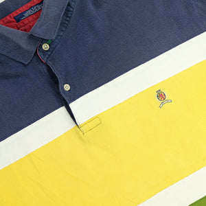 Vintage Tommy Hilfiger Lion Crest Colour Block Polo Shirt - XL