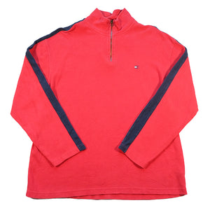 Tommy Hilfiger Logo Quarter Zip Sweatshirt - XL