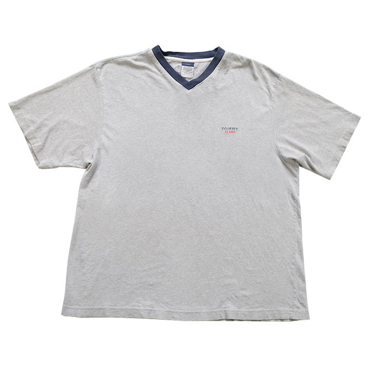 Vintage Tommy Hilfiger Jeans Embroidered T-Shirt - XL