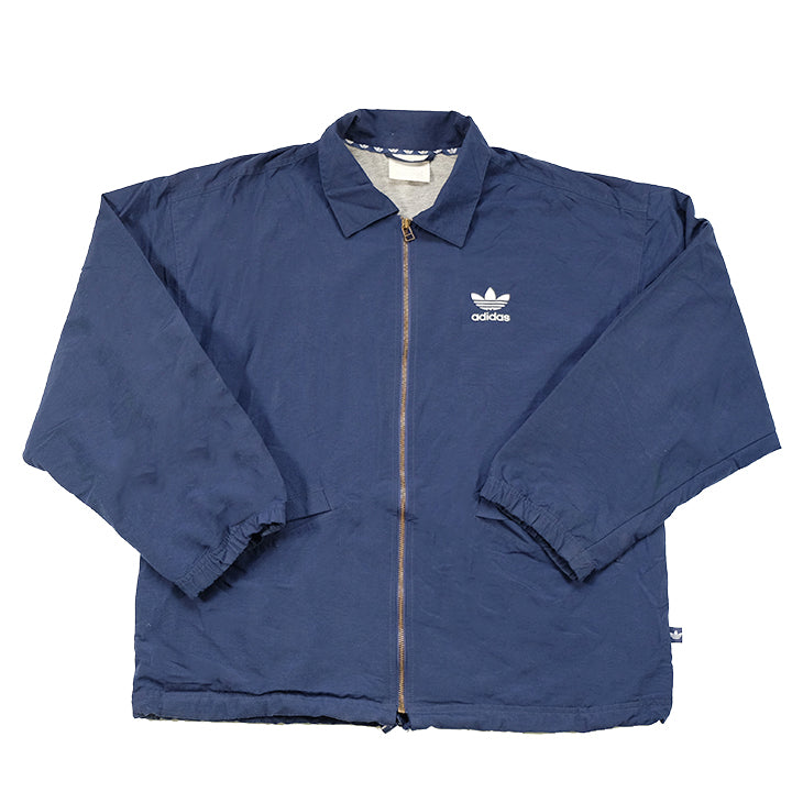 Vintage Adidas Embroidered Logo Coach Style Jacket - L